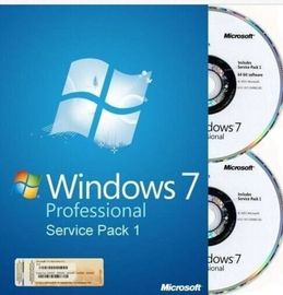 China Caixa profissional inglesa/do francês Microsoft Windows 7 do OEM da chave de SP1 64Bit DVD do OEM fábrica