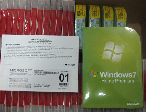 Multi língua Microsoft Windows 7 Home Premium, chaves do sistema operacional FPP de Windows 7
